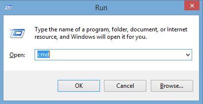Command Prompt untuk Instal Laravel